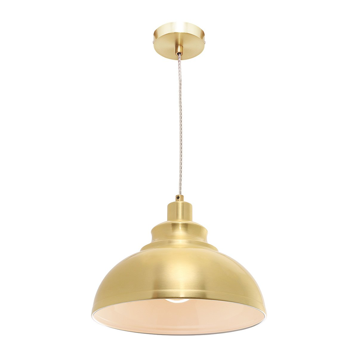 Risto Metal Pendant Light, Satin Brass