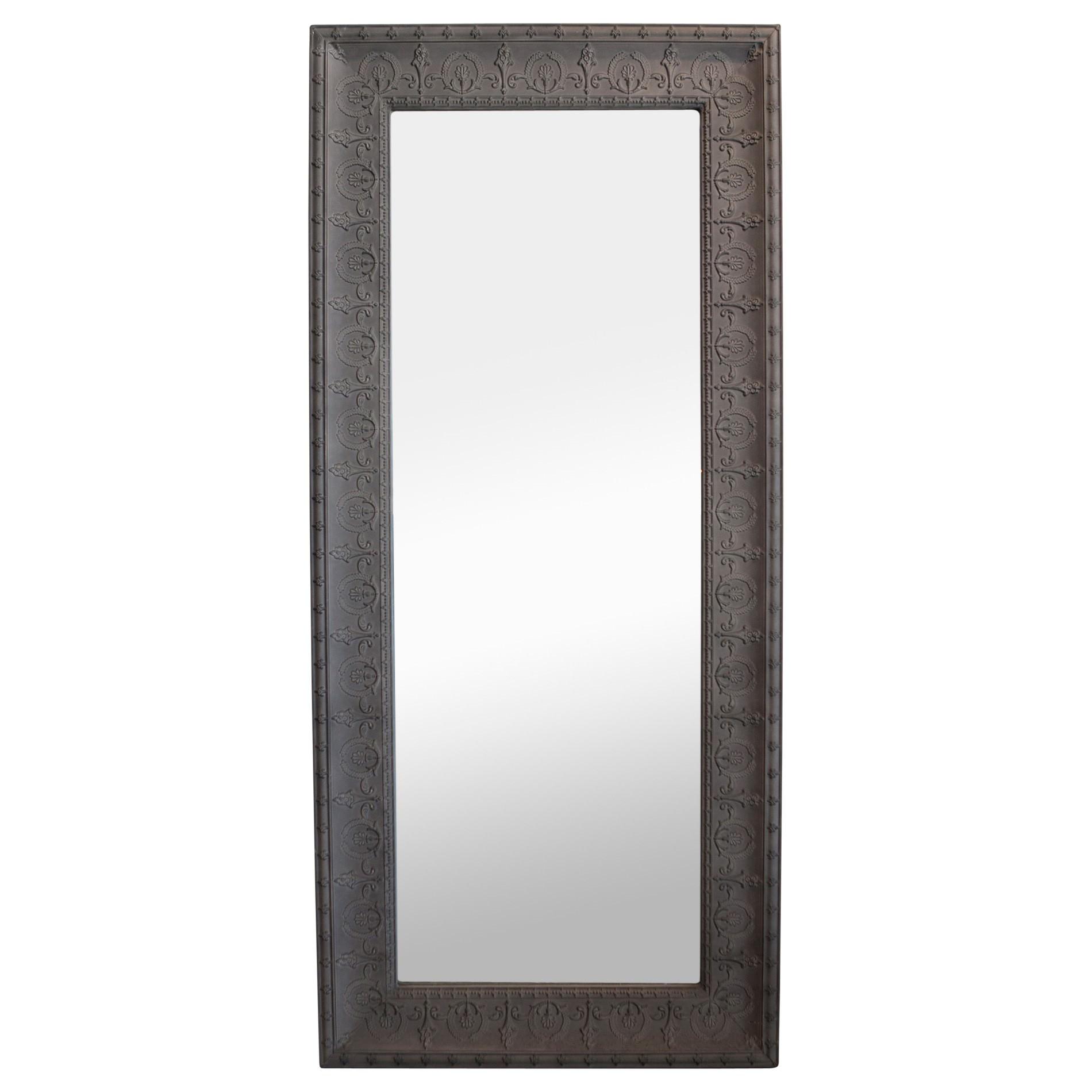 Mercedes Iron Frame Wall Mirror, 190cm, Taupe
