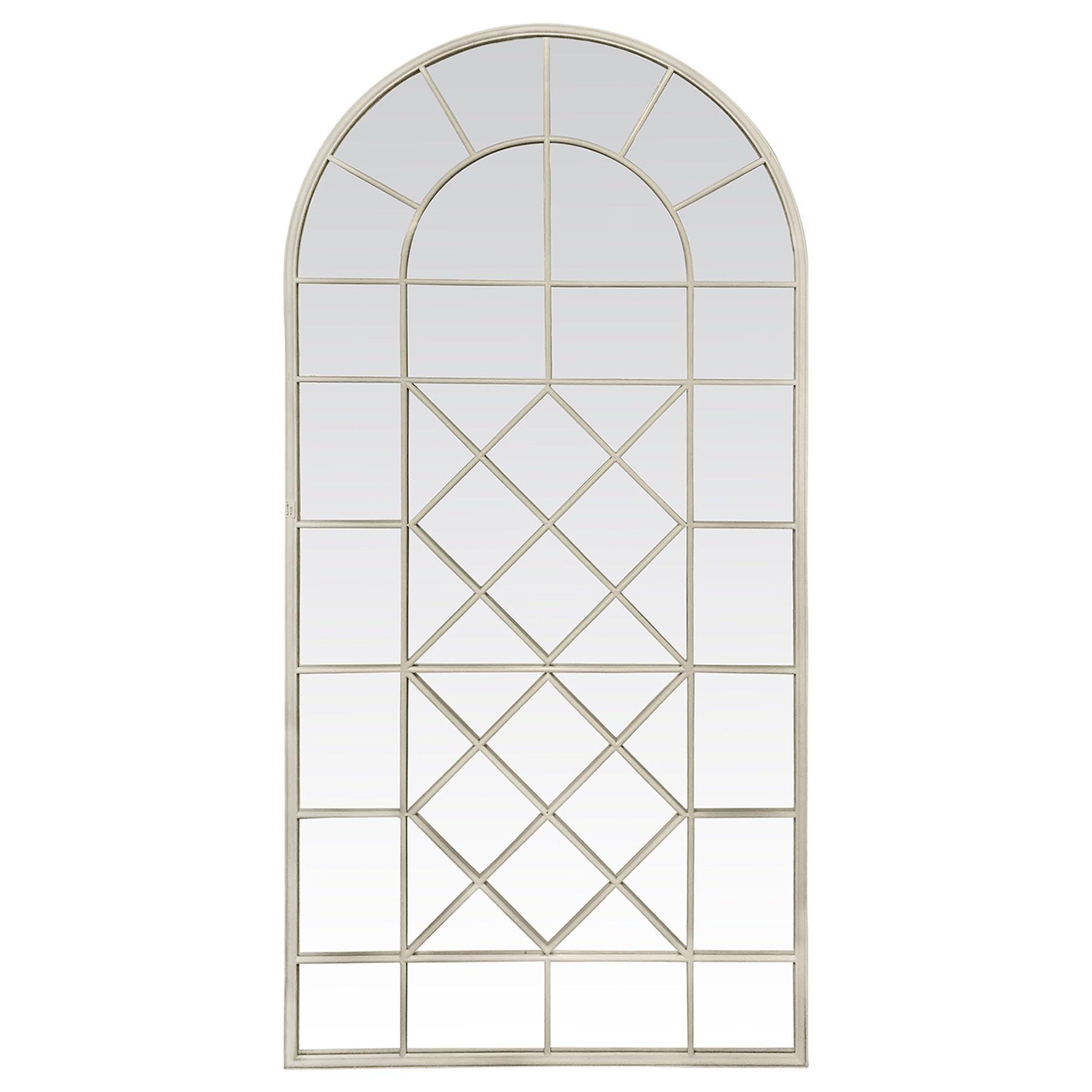 Galloway Iron Arch Window Floor Mirror, 225cm