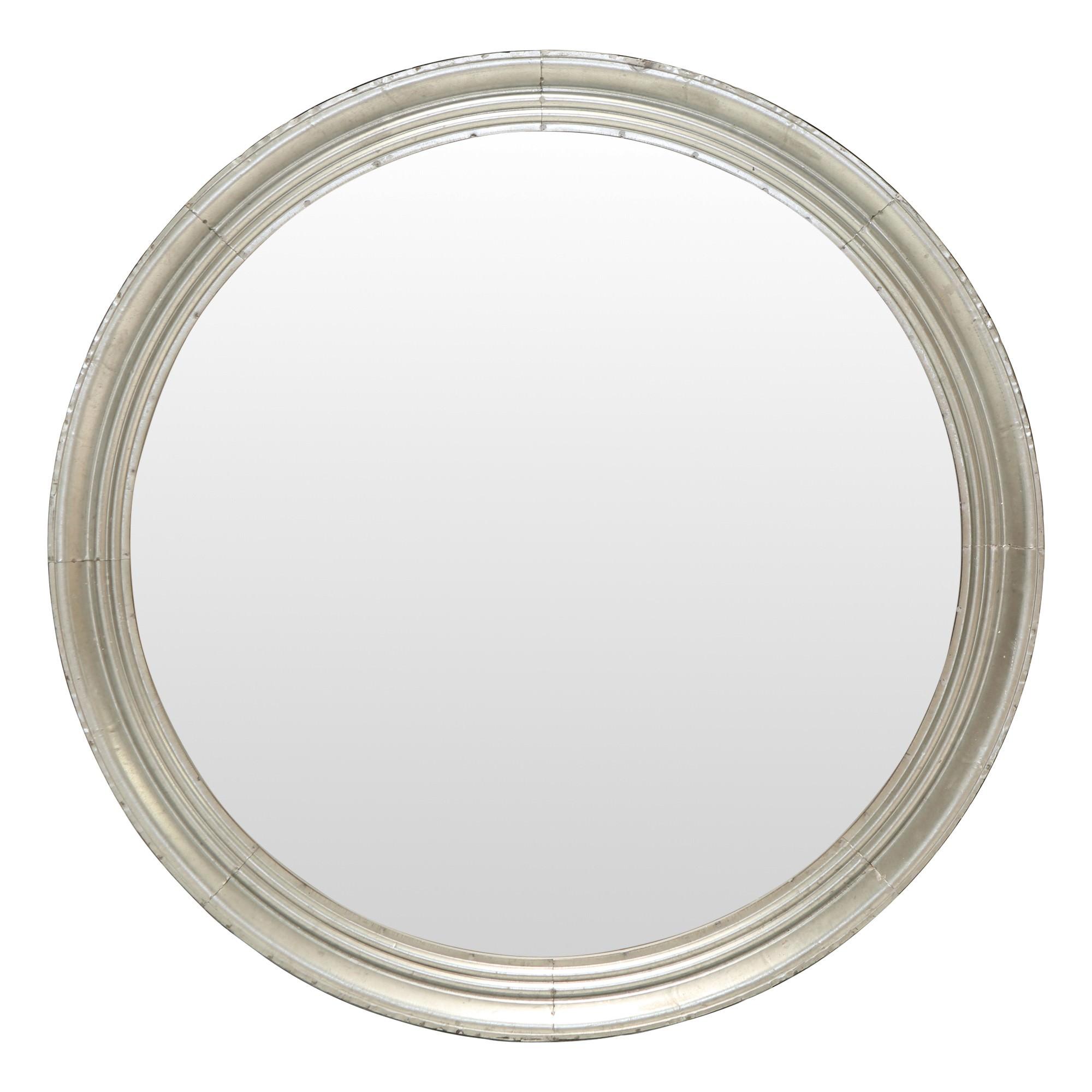 Adelaide Galvanised Iron Frame Round Wall Mirror, 90cm