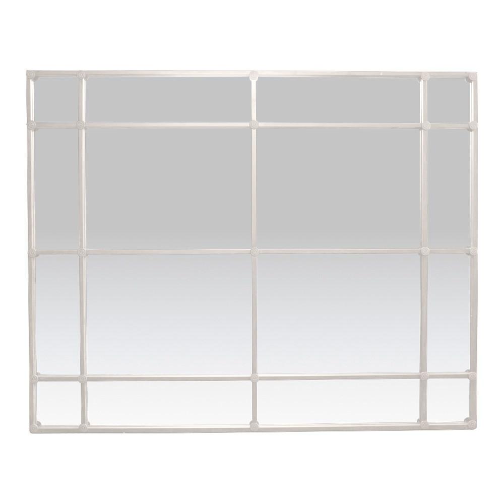 Aston Iron Frame Floor Mirror, 200cm, Antique White