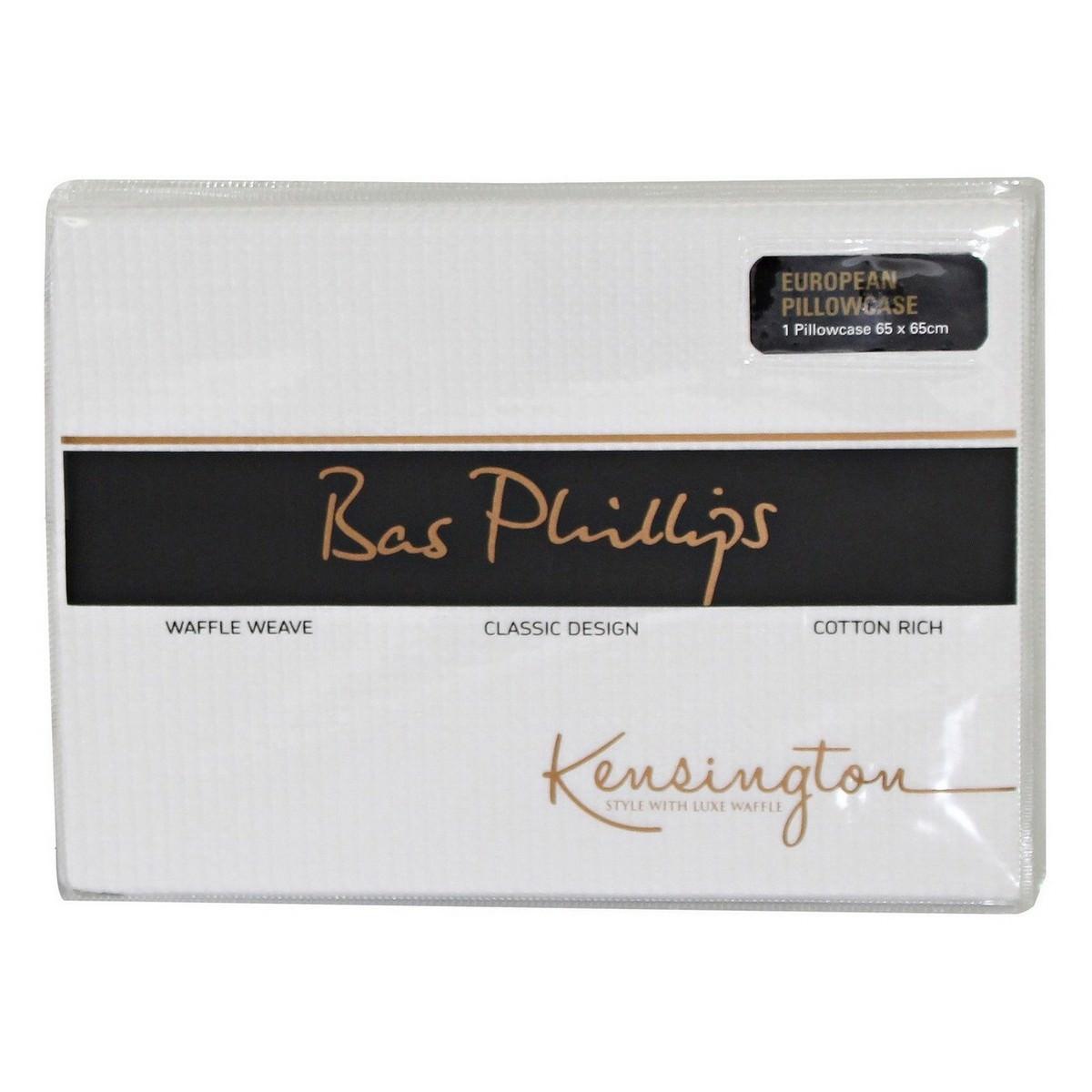 Bas Phillips Kensington Waffle Euro Pillowcase, White