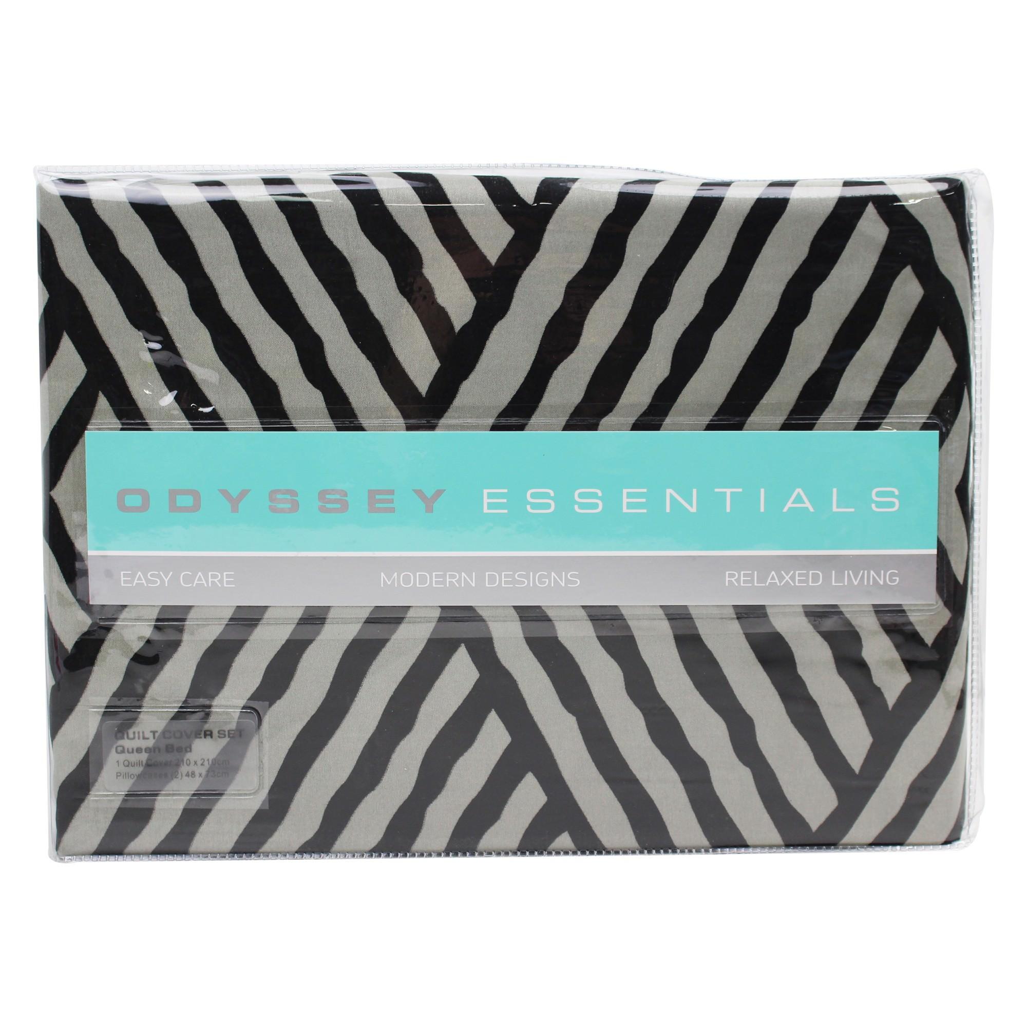 Odyssey Living Hudson Microfibre Quilt Cover Set, Queen