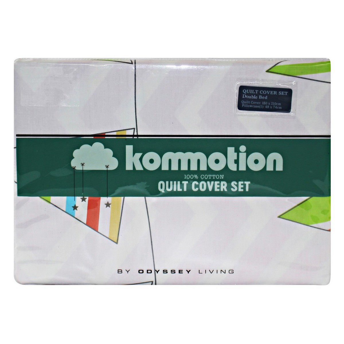 Kommotion Carnival Cotton Quilt Cover Set, Double