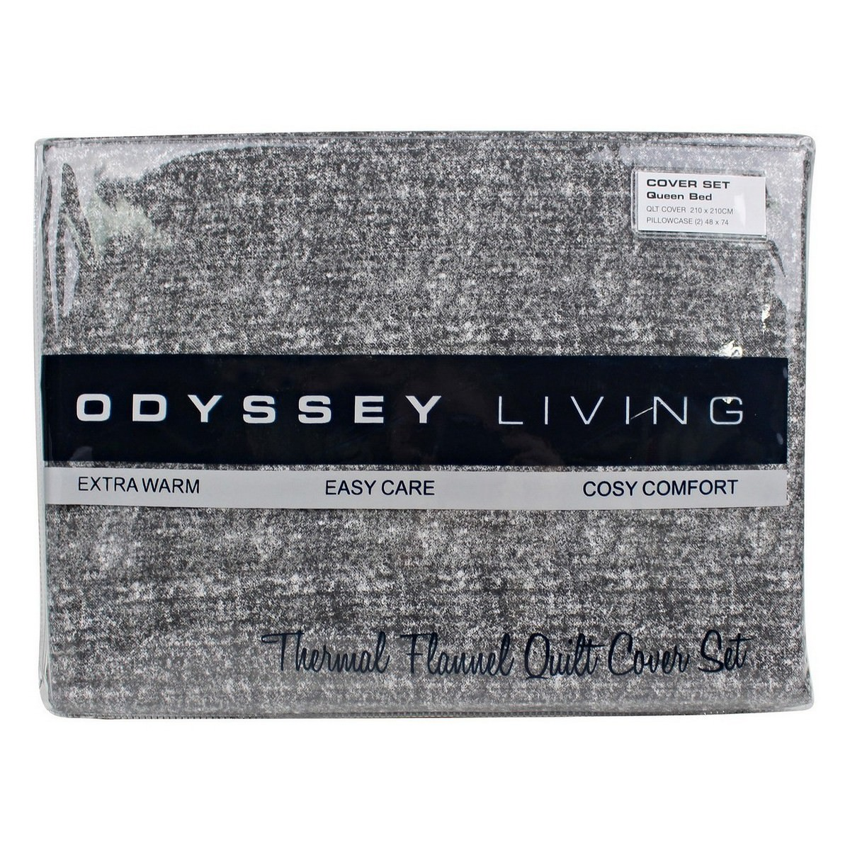 Odyssey Living Marle Thermal Flannel Quilt Cover Set, Queen, Night Sky