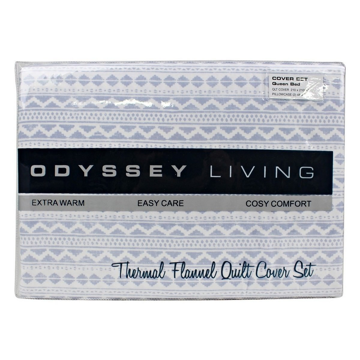 Odyssey Living Sioux Thermal Flannel Quilt Cover Set, Queen, Heather