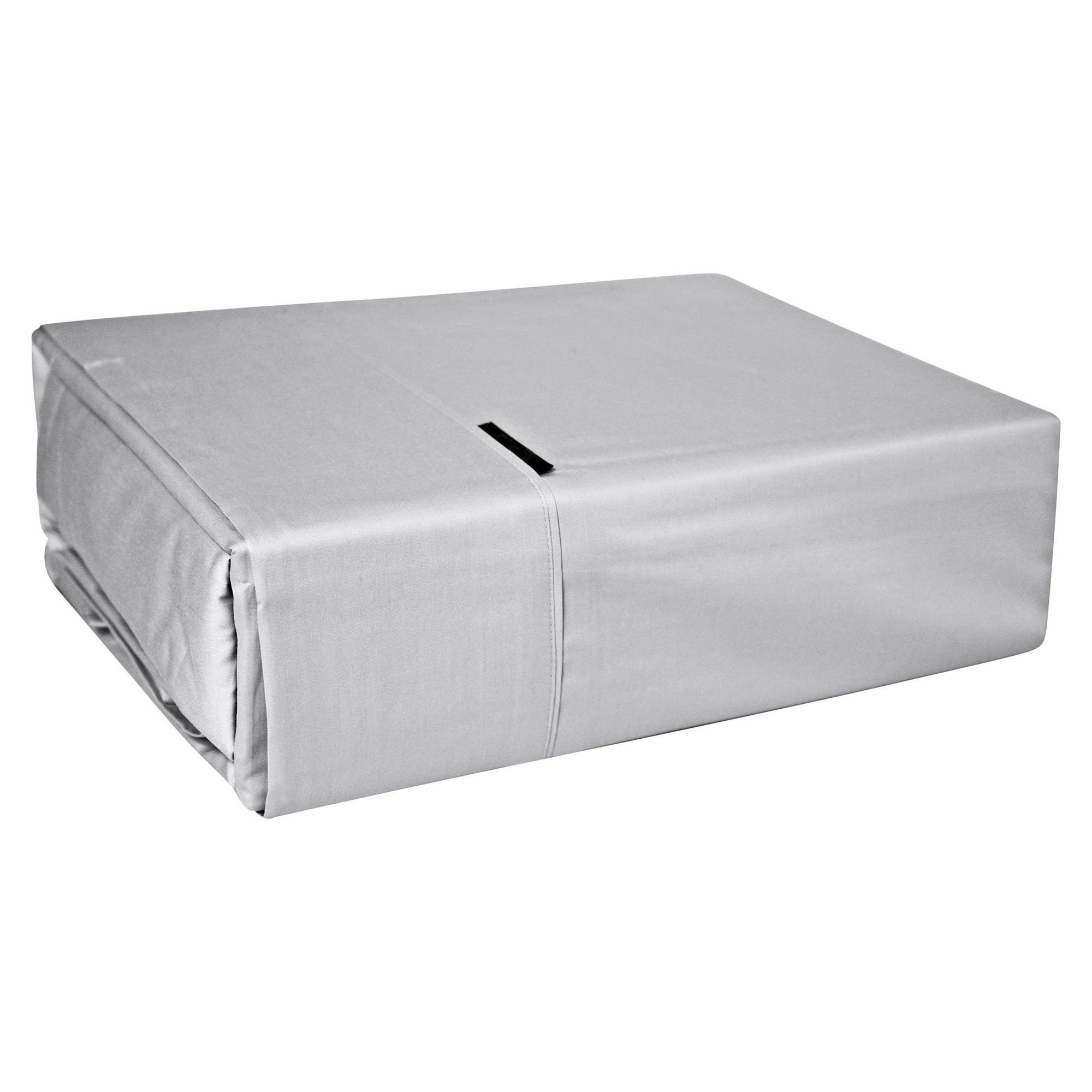 Bas Phillips 400TC Bamboo Cotton Sheet Set, Mega Queen, Silver