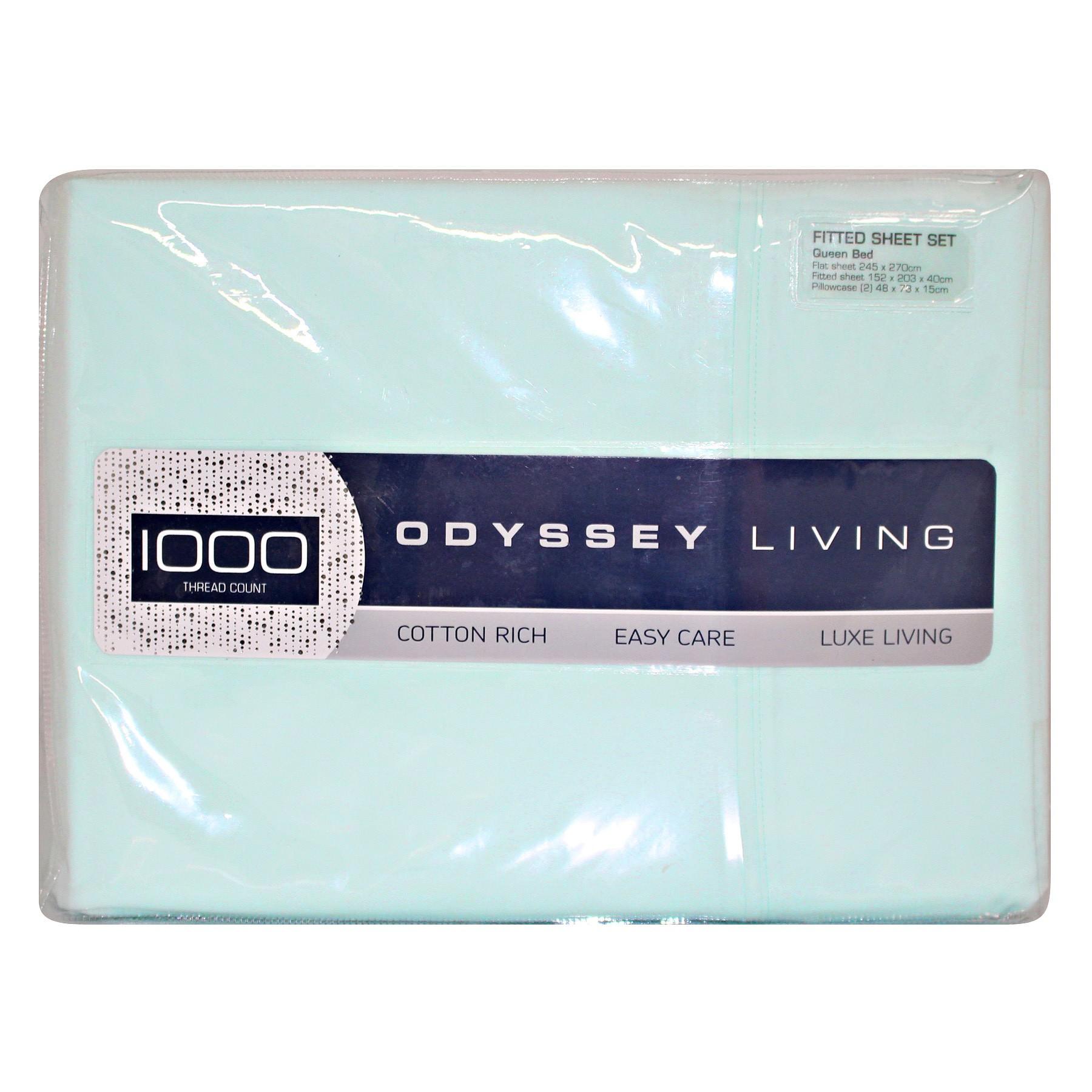 Odyssey Living 1000TC Cotton Rich Sheet Set, Double, Mint