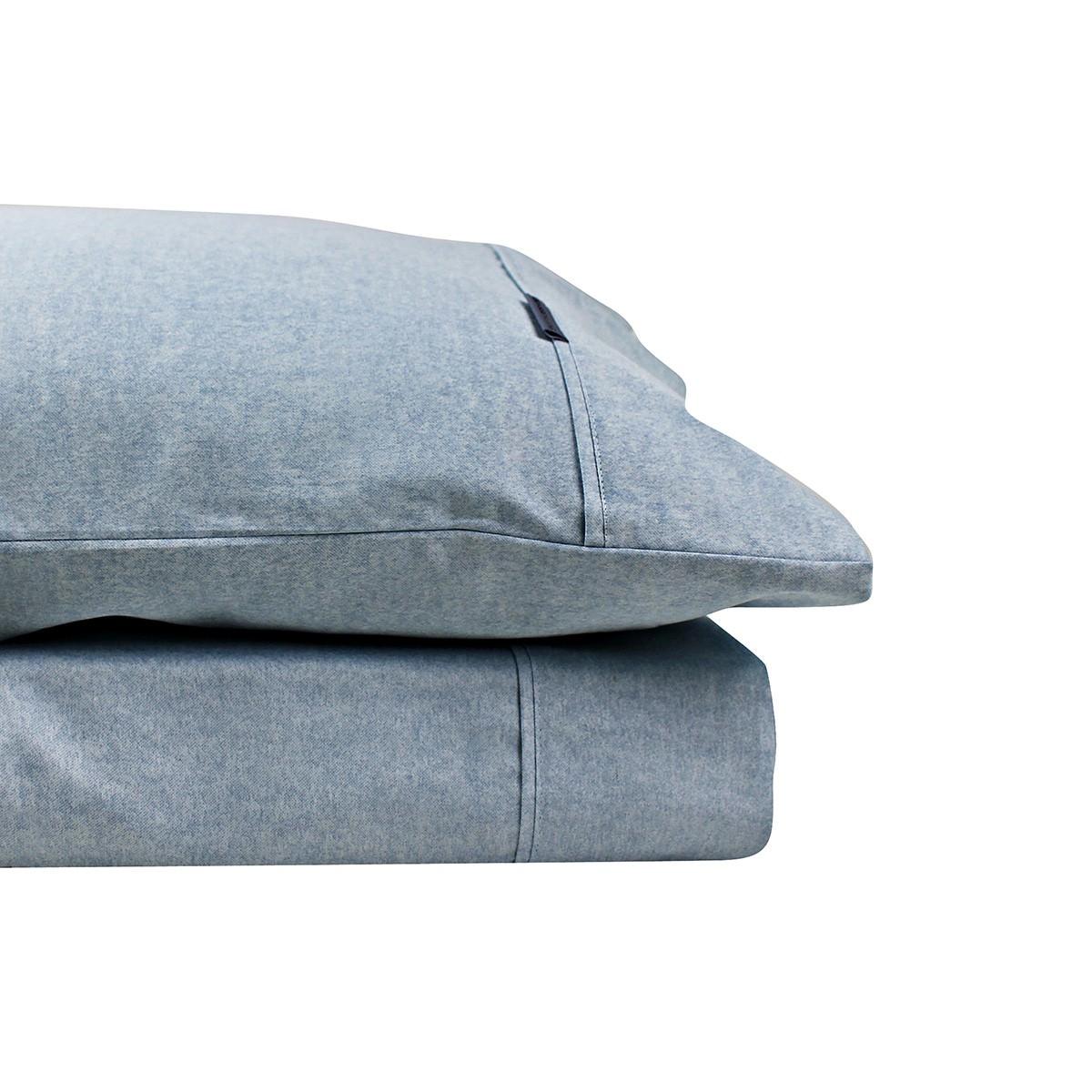 Odyssey Living Marle 1000TC Cotton Rich Sheet Set, Queen, Navy