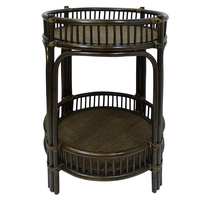 Hawthorne Bamboo Rattan Bar Caddy, Cigar
