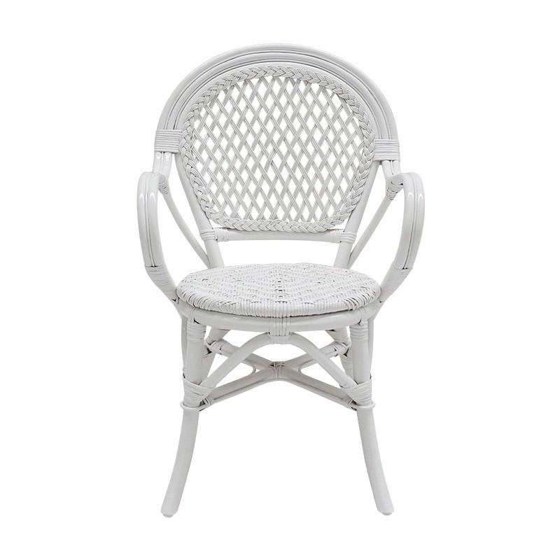 Samara Bamboo Rattan Armchair, White