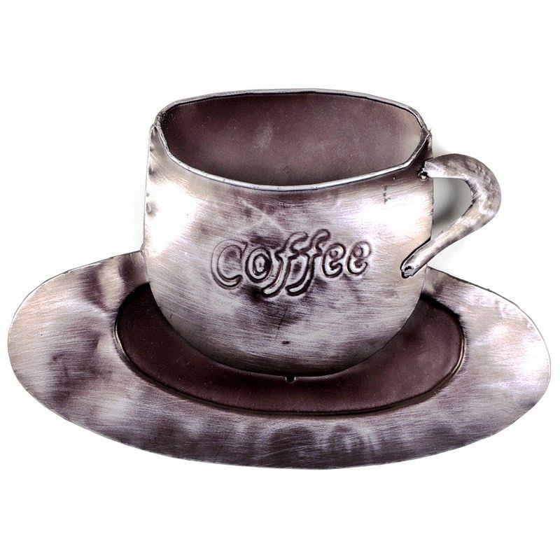 Aba Coffee Cup Metal Wall Decor