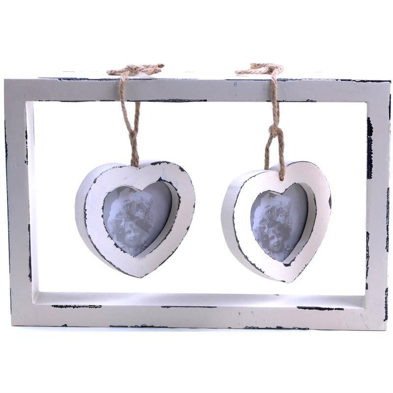 Hanging Hearts Photo Frame with Glass Cover