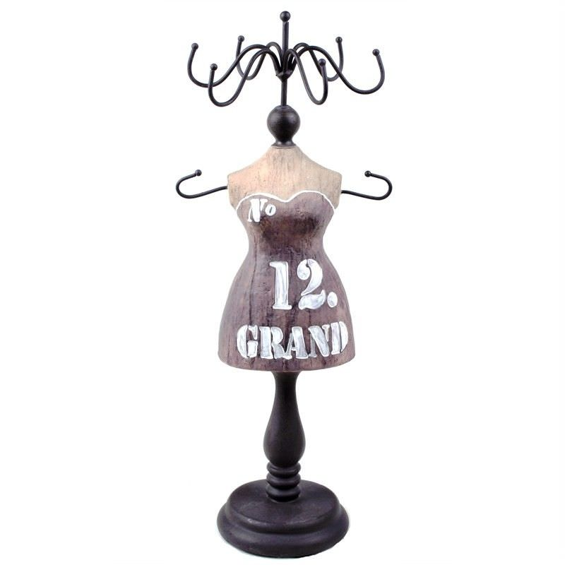 NO.12 Mannequin Wood and Metal Jewellery Holder
