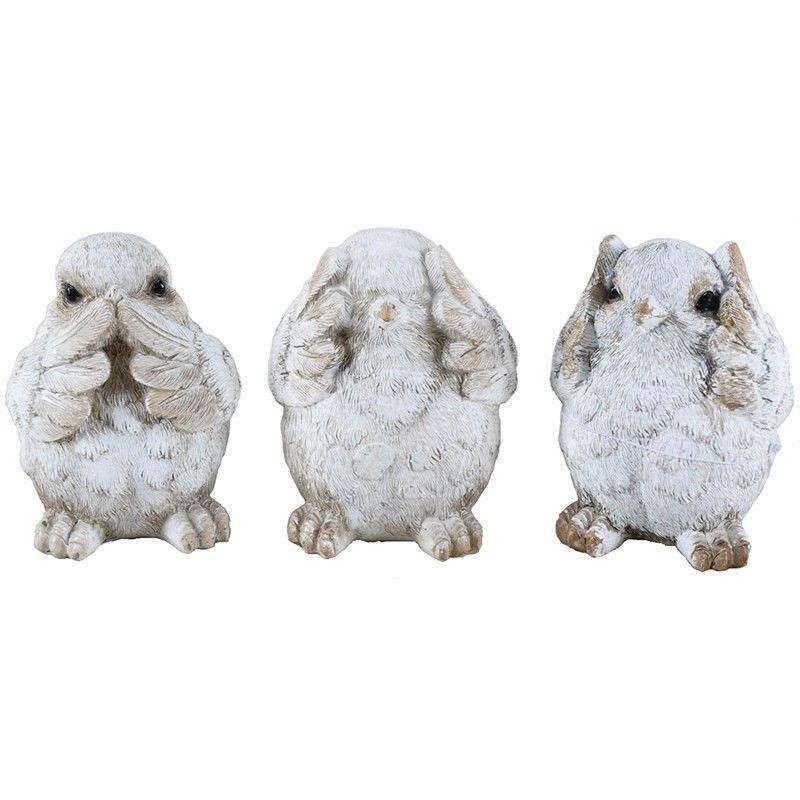 Gabi Set of 3 Resin Bird Decor