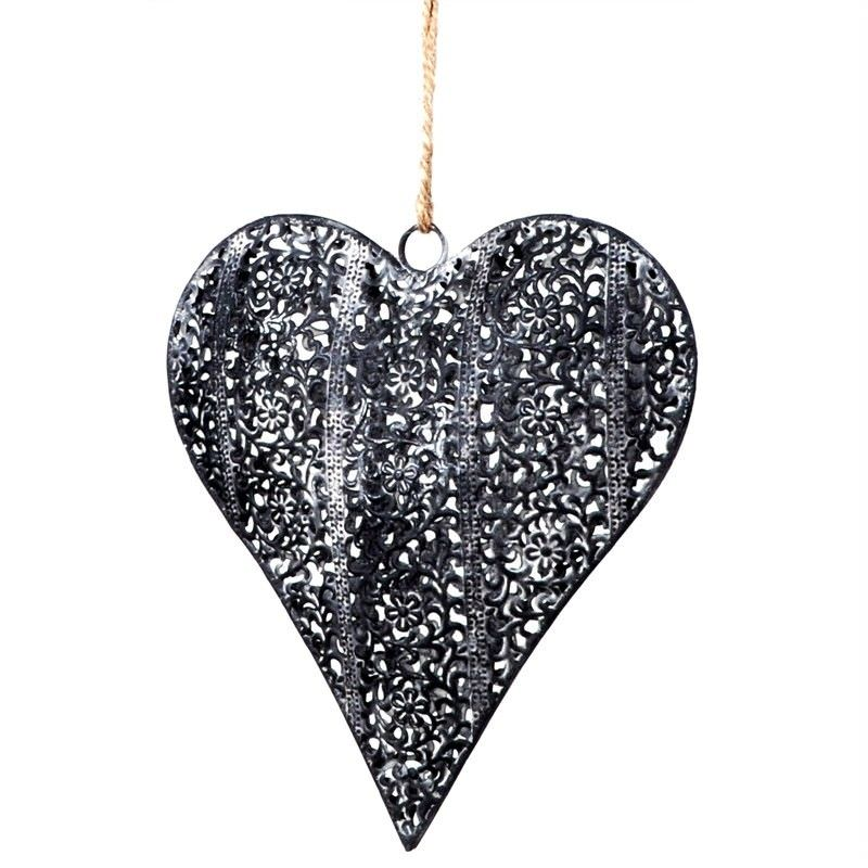 Metal Heart Shape Hanging Decor - Small