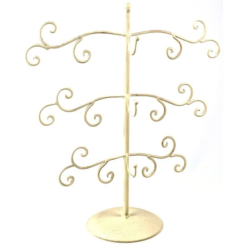 Alfreda Metal Jewellery Tree - Cream