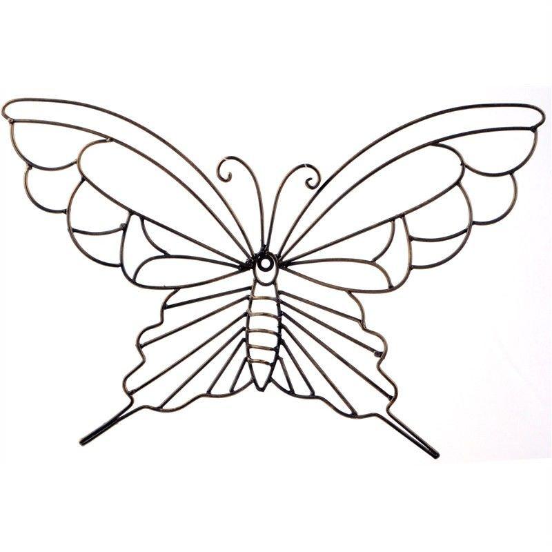 Butterfly Metal Wall Decor - Dark Brown