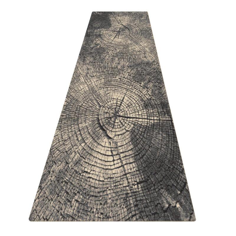 Legacy Rings Modern Runner Rug, 80x300cm, Grey