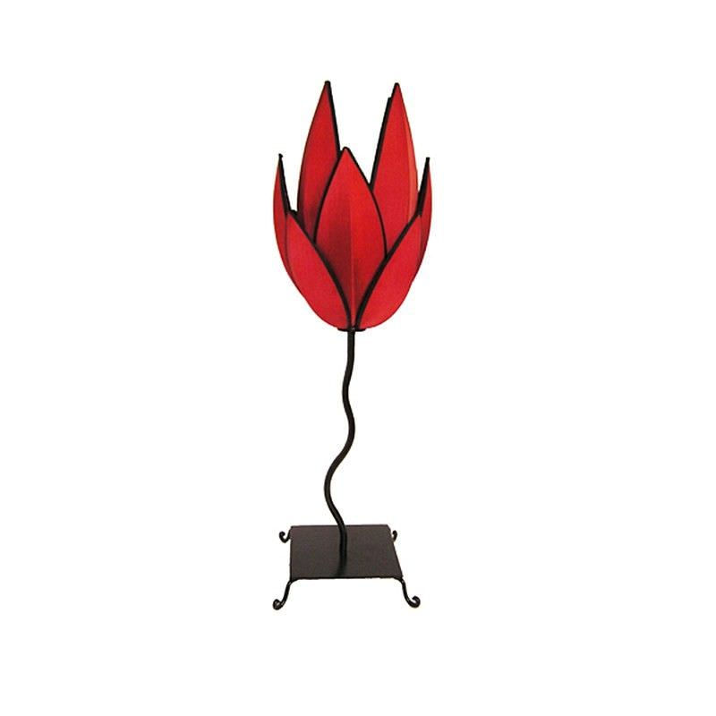Rovan Artichoke Tall Table Lamp - Red