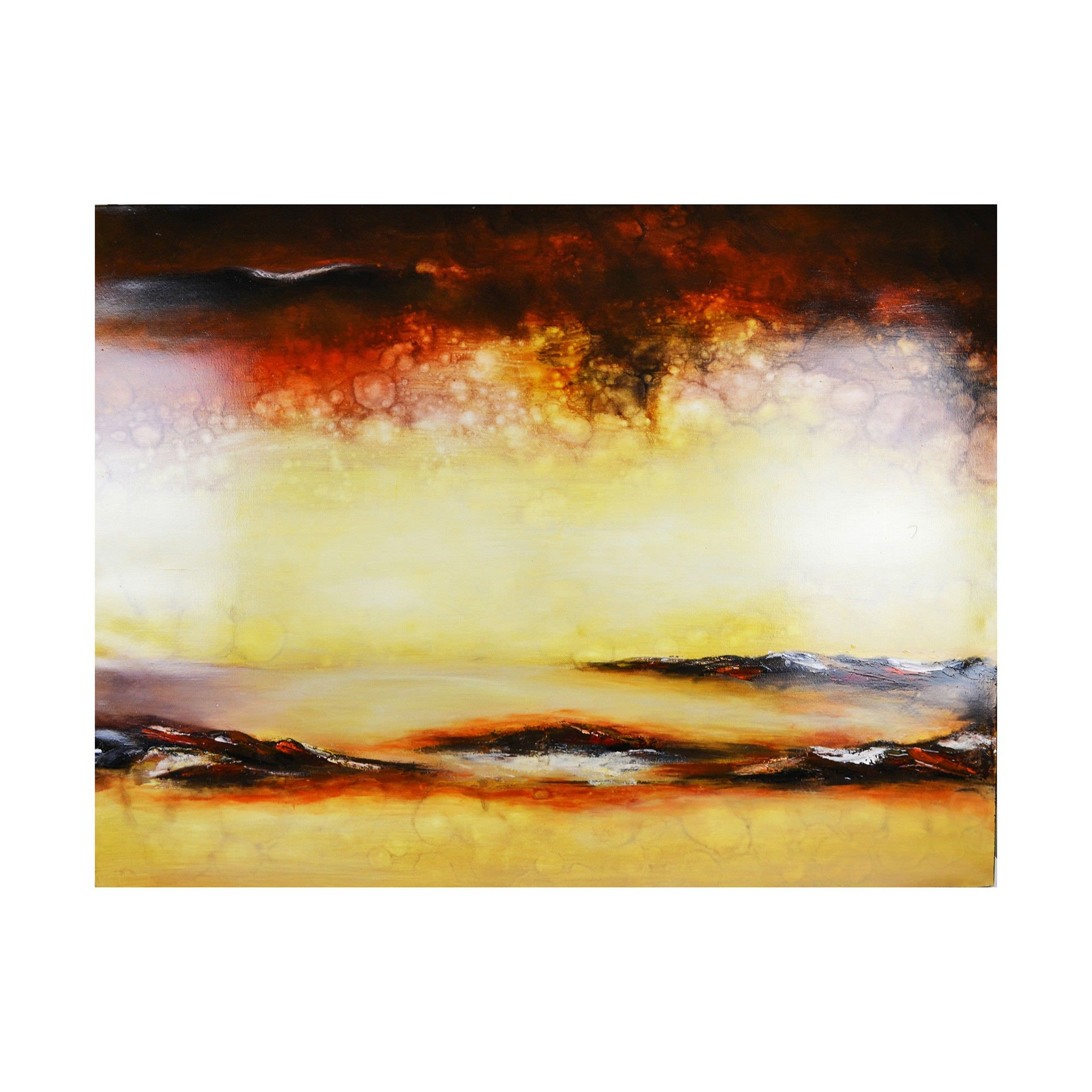 Streched Canvas Abstract Painting Wall Art, Gobi Dream, 120cm