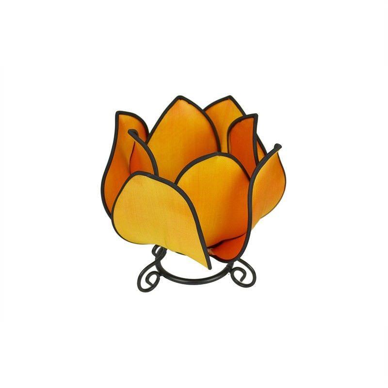 Rovan Small Lotus Table Lamp - Orange