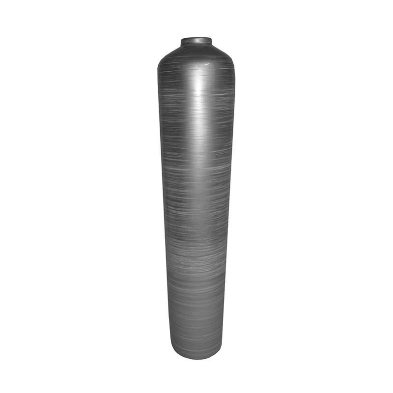 Imran Lacquered Fiberglass Vase - Grey