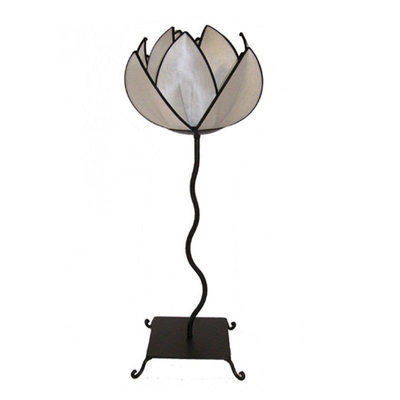 Rovan Silk Lotus Floor Lamp, Small, White