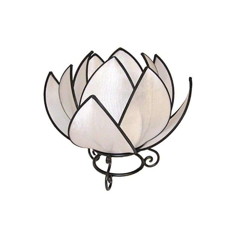 Rovan Silk Waterlily Table Lamp, White