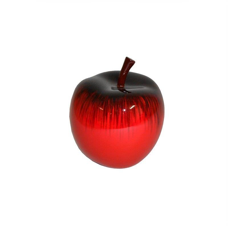 Parri Small Lacquered Fiberglass Apple Decor - Red