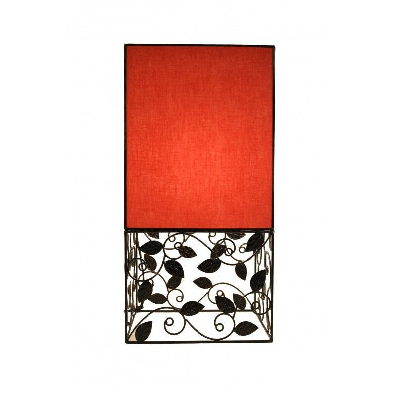 Rovan 47cm Red Table Lamp