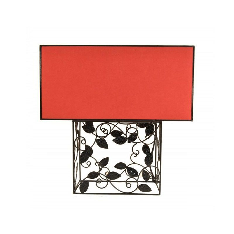 Rovan 41cm Red Table Lamp