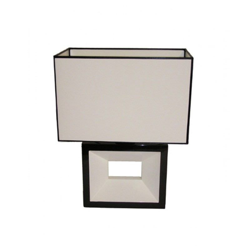 Rovan 44cm Black and White Shade Table Lamp