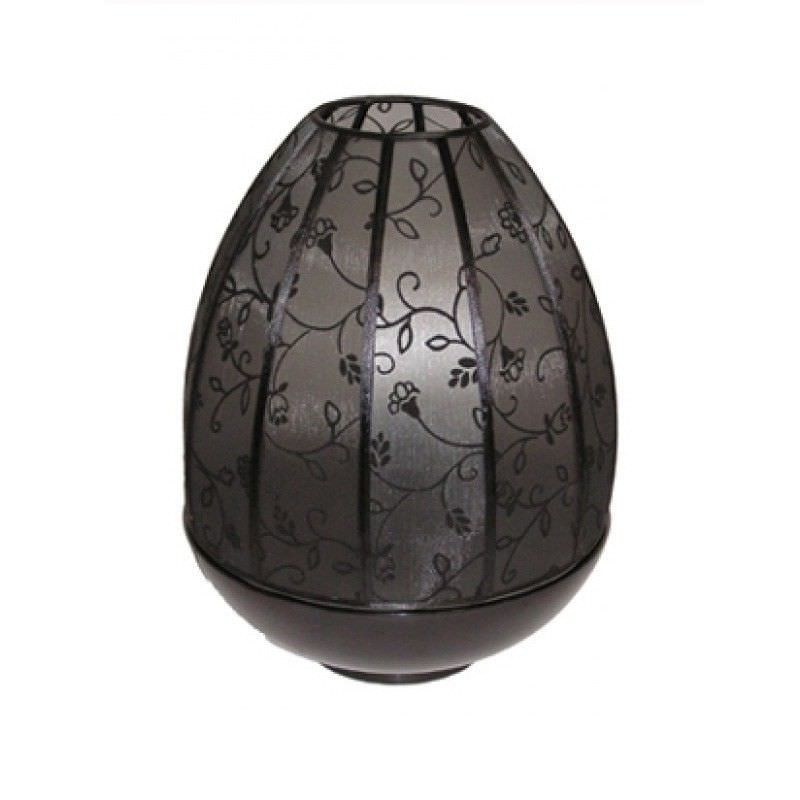 Rovan 38cm Black and Black Floral Shade Dome Lamp