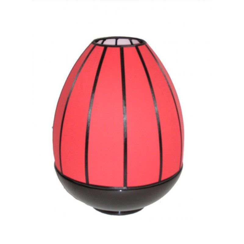 Rovan 38cm Black and Red Shade  Dome Lamp