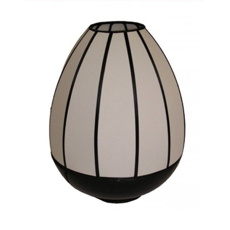 Rovan 38cm Black and White Shade  Dome Lamp
