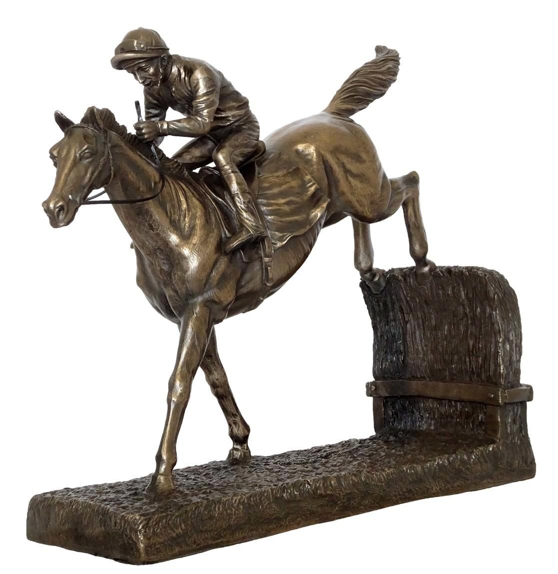 Veronese Cold Cast Bronze Coated Landing Jockey Figurine