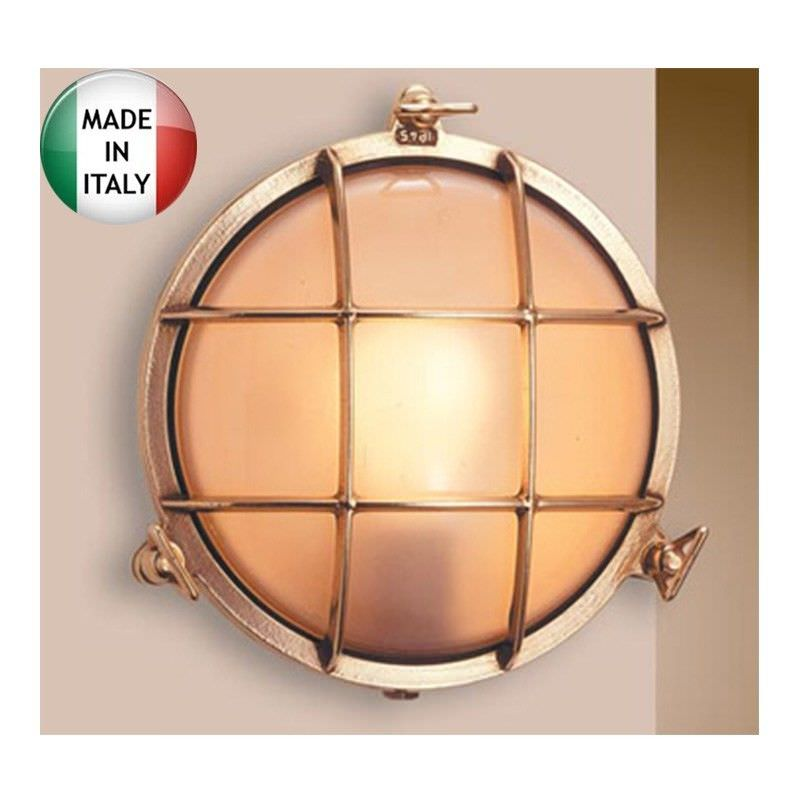 Eden Large Cast Brass Round Bunker - Made In Italy