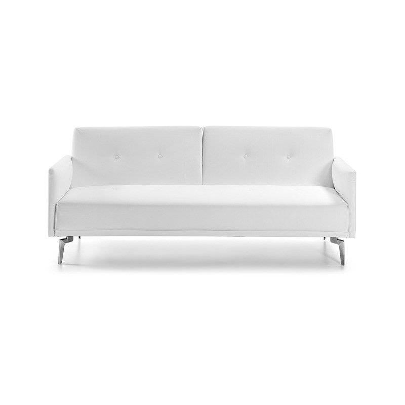 Rita PU Leather Sofa Bed - White