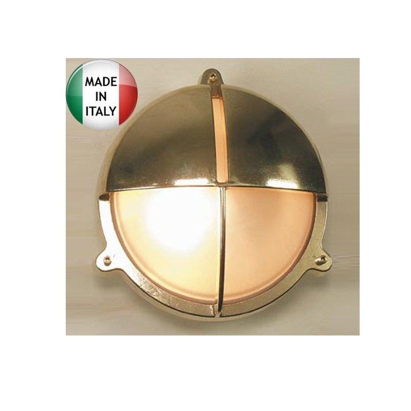 Queenscliff Cast Brass Bunker Light - Made In Italy