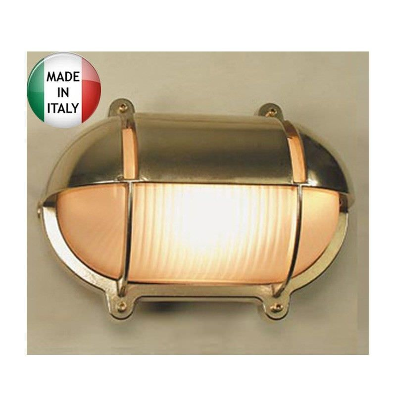 Freemantle Cast Brass Bunker Light - Made In Italy