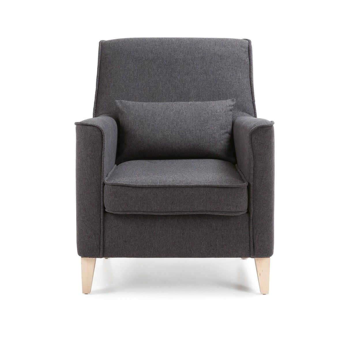 Amicis Fabric Lounge Armchair, Graphite