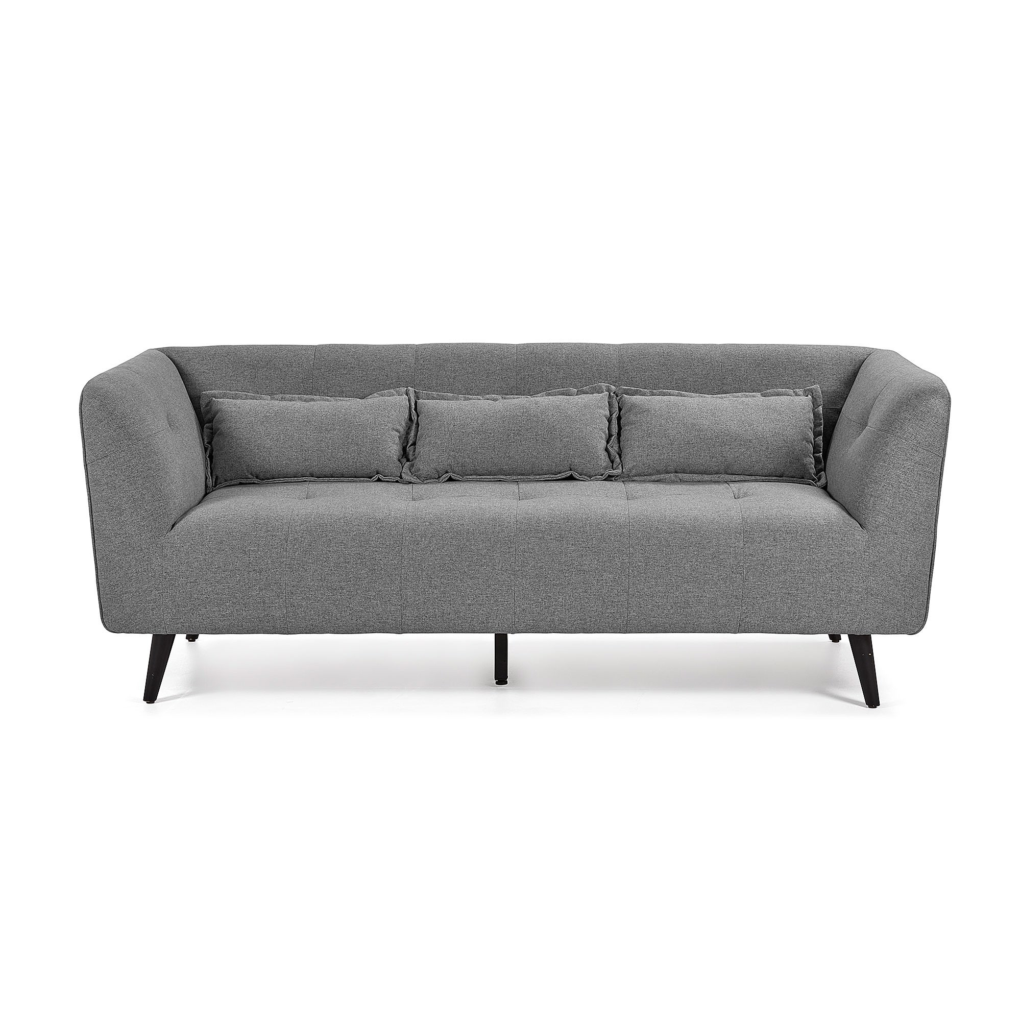 Anwen Fabric Sofa, 3 Seater, Dark Grey