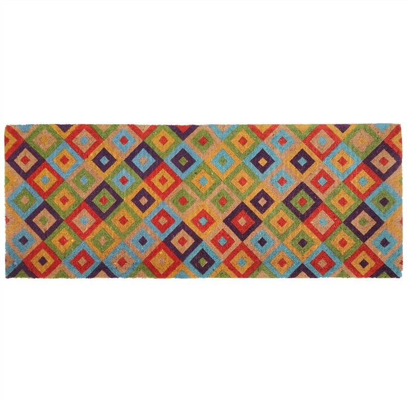 Saman 45x120cm Coir Doormat - Multi