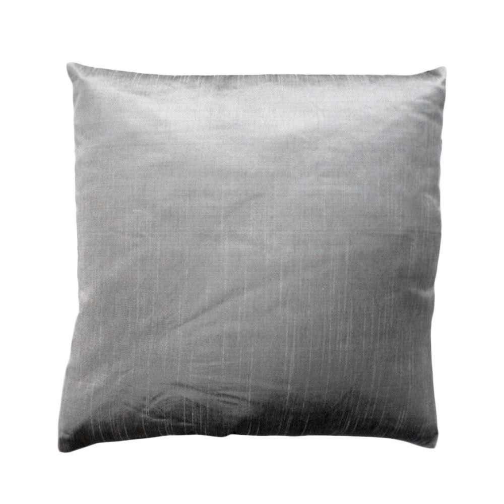 Aigas Silk Plain Scatter Chushion, Platinum