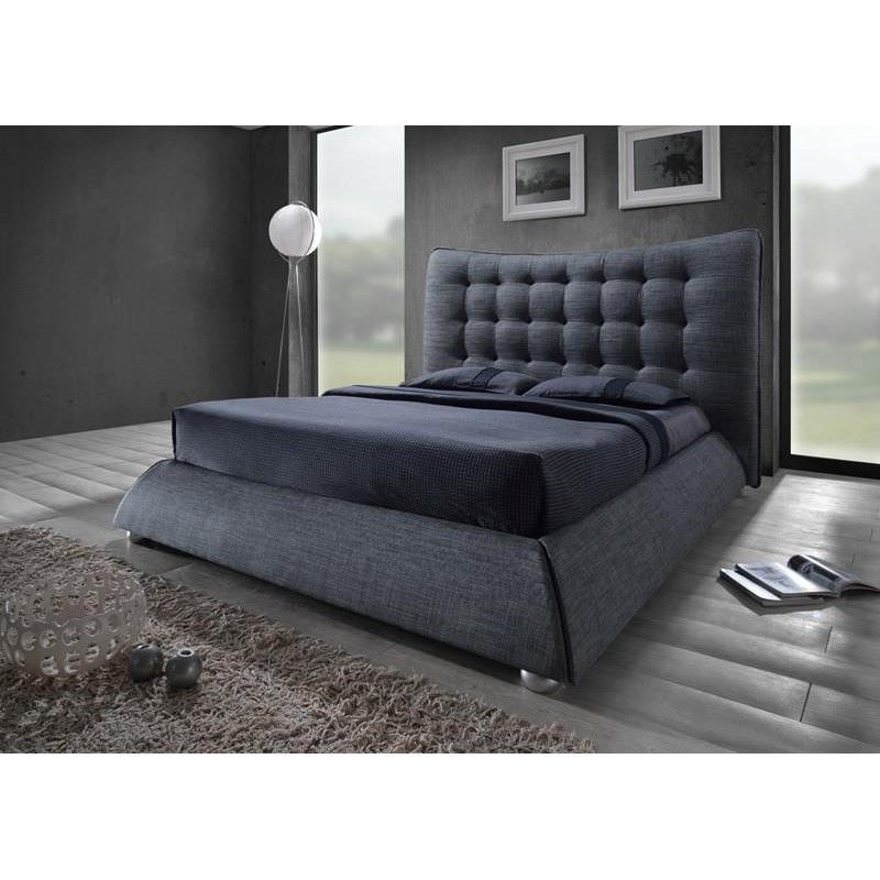 Saturn Fabric Queen Bed