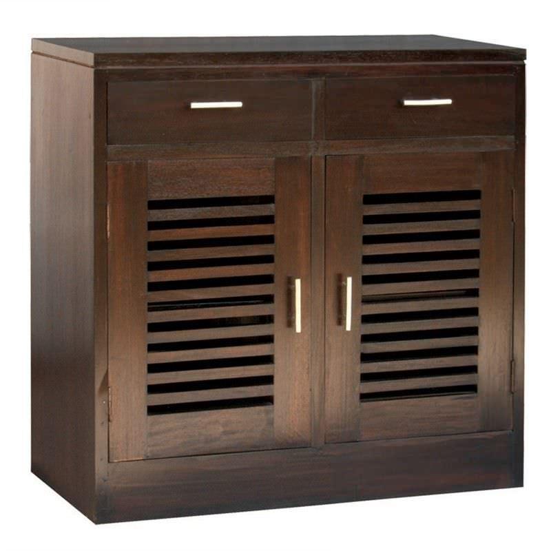 Holland Mahogany Timber 2 Door 2 Drawer Buffet Table, 92cm, Chocolate
