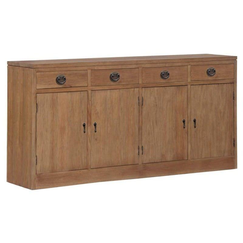 Vienna Solid Mahogany Timber 4 Door 4 Drawer Buffet Table, 180cm, Teak