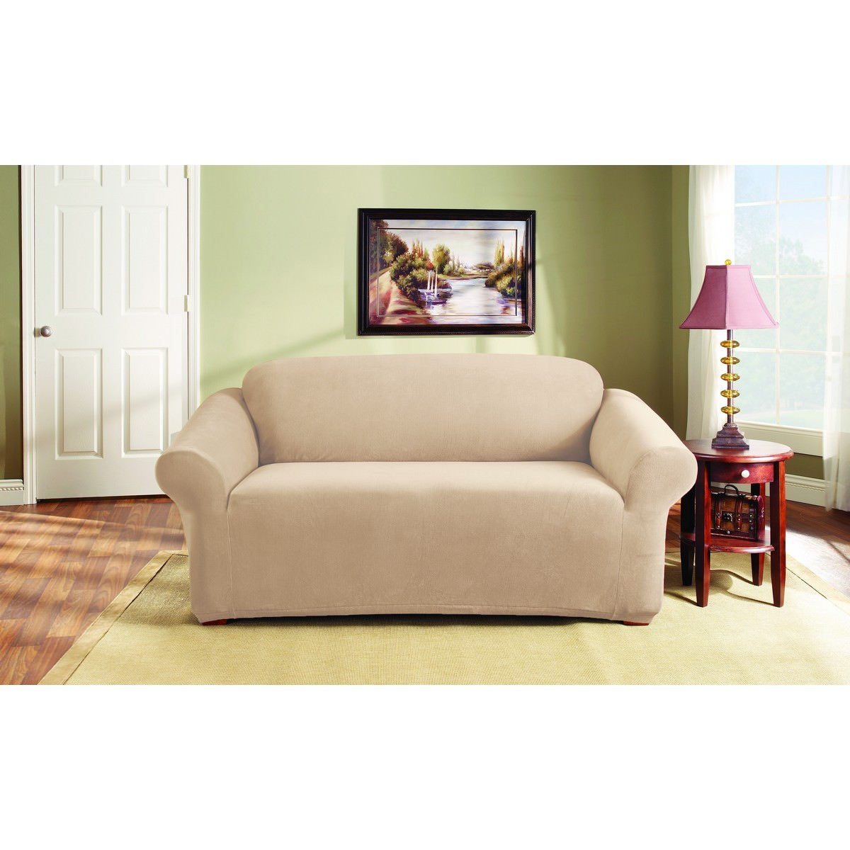 Sure Fit Stretch Pearson Sofa Cover, 2 Seater, Ivory