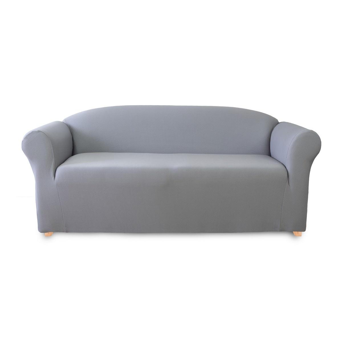 Sure Fit Diamond Sofa Cover, 2 Seater, Silver